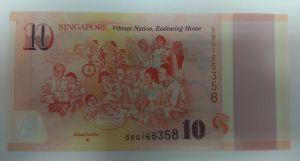 Сингапур, 10 долларов (2015 г.)