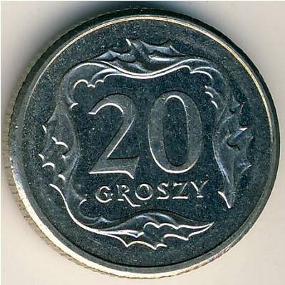 Сколько стоит монета 1966 года 20 groszy цена таиландская монета