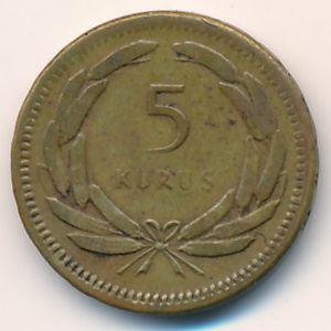 Турция, 5 куруш (1951 г.)