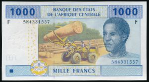 Центральная Африка, 1000 франков (2002 г.)