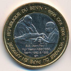Бенин, 6000 франков КФА (2005 г.)