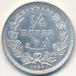 Момбаса, 1/4 рупии (1890 г.)