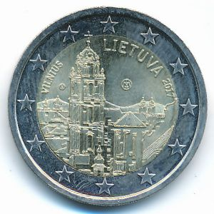Литва, 2 евро (2017 г.)