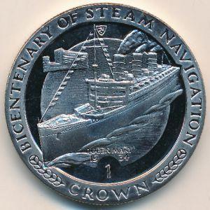 Остров Мэн, 1 крона (1988 г.)