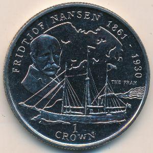 Остров Мэн, 1 крона (1997 г.)