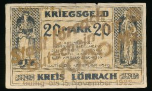 Лёррах., 1000 марок (1919 г.)