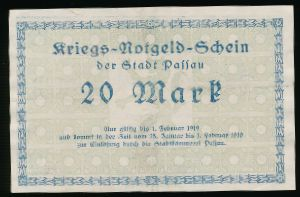 Дессау-Росслау., 20 марок (1919 г.)