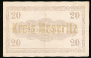 Мендзыжеч., 20 марок (1918 г.)