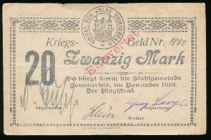 Любско., 20 марок (1918 г.)