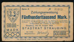 Штраубинг., 500000 марок (1923 г.)