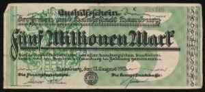 Гамбург., 5000000 марок (1923 г.)
