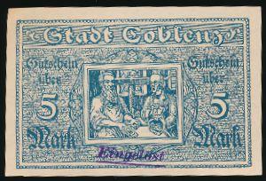 Кобленц., 5 марок (1919 г.)