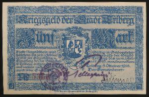 Фрайбург-им-Брайсгау., 5 марок (1919 г.)