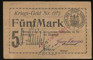 Любско., 5 марок (1919 г.)