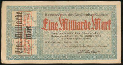 Кохем., 1000000000 марок (1923 г.)