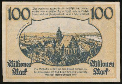Пирна., 100000000 марок (1923 г.)