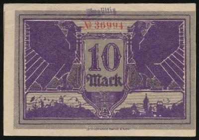 Айзенах., 10 марок (1918 г.)