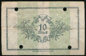Альтона., 10 марок (1918 г.)