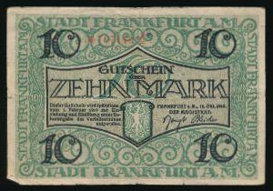 Франкфурт-на-Майне., 10 марок (1918 г.)