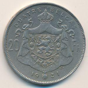 Бельгия, 20 франков (1931 г.)