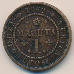 Ангола, 1 макута (1860 г.)