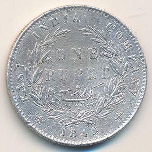 Британская Индия, 1 рупия (1840 г.)
