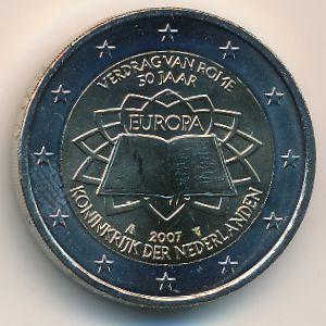 Нидерланды, 2 евро (2007 г.)