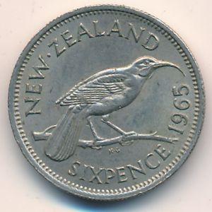 Новая Зеландия, 6 пенсов (1965 г.)