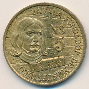 Уругвай, 5 новых песо (1976 г.)