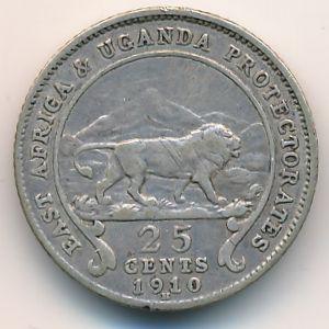 Восточная Африка, 25 центов (1910 г.)