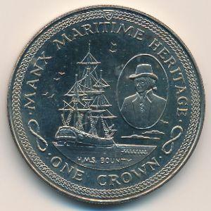 Остров Мэн, 1 крона (1982 г.)