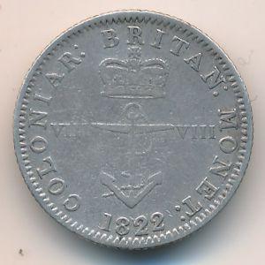 Британская Вест-Индия, 1/8 доллара (1822 г.)