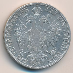 Австрия, 1 талер (1861 г.)