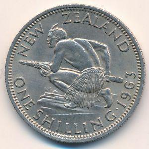 Новая Зеландия, 1 шиллинг (1963 г.)