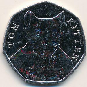 Великобритания, 50 пенсов (2017 г.)