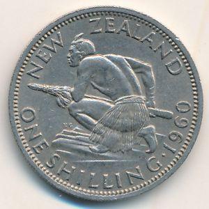 Новая Зеландия, 1 шиллинг (1960 г.)