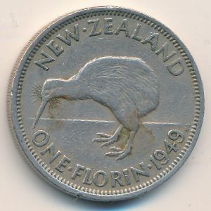 Новая Зеландия, 1 флорин (1949 г.)