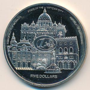 Либерия, 5 долларов (2003 г.)