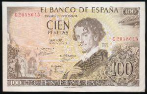 Испания, 100 песет (1965 г.)