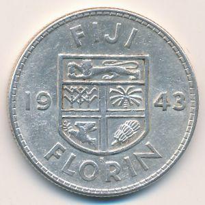 Фиджи, 1 флорин (1943 г.)