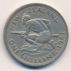 Новая Зеландия, 1 шиллинг (1961 г.)