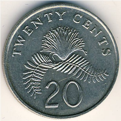 Singapore Coin Picture on Coins Catalog   Singapore  20 Cents  Km 52   Numismatics With Global