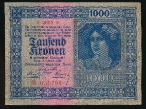 Австрия, 1000 крон (1922 г.)
