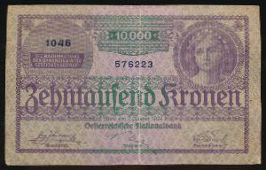 Австрия, 10000 крон (1924 г.)