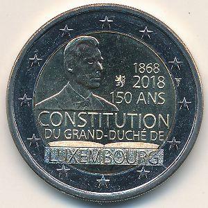 Люксембург, 2 евро (2018 г.)