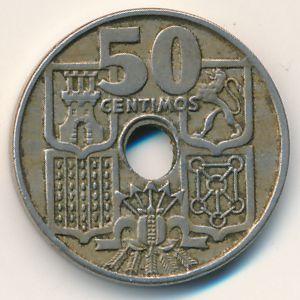 Испания, 50 сентимо (1949 г.)