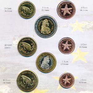 Гваделупа, Набор монет (2005 г.)