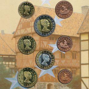 Дания, Набор монет (2002 г.)