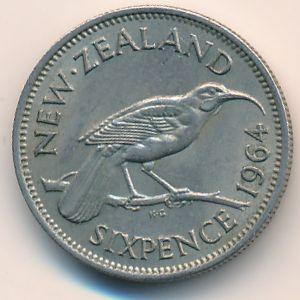 Новая Зеландия, 6 пенсов (1964 г.)