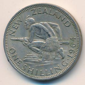 Новая Зеландия, 1 шиллинг (1964 г.)